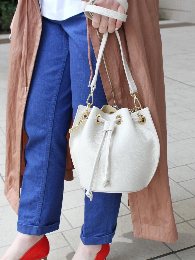 [Rakuten Fashion]MARCO BIANCHINI / 別注 チェーン ミニ巾着バッグ ミニバッグ ビームス BEAMS LIGHTS ビームスライツ バッグ ハンドバッグ ホワイト レッド ブルー【送料無料】