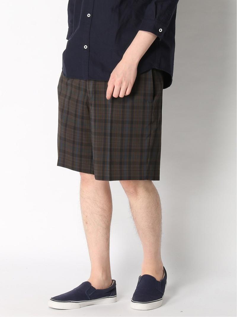 [Rakuten Fashion]BEAMS PLUS / ニューアイビー ダークマドラスショーツ BEAMS MEN ビームス メン パンツ/ジーンズ ショートパンツ ブラウン ネイビー【送料無料】