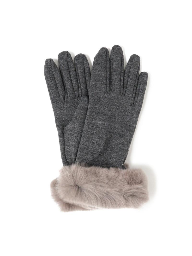 ALPO / ジャージ ファー グローブ Demi-Luxe BEAMS デミルクス ビームス ファッショングッズ 手袋 ブラック【送料無料】[Rakuten Fashion]