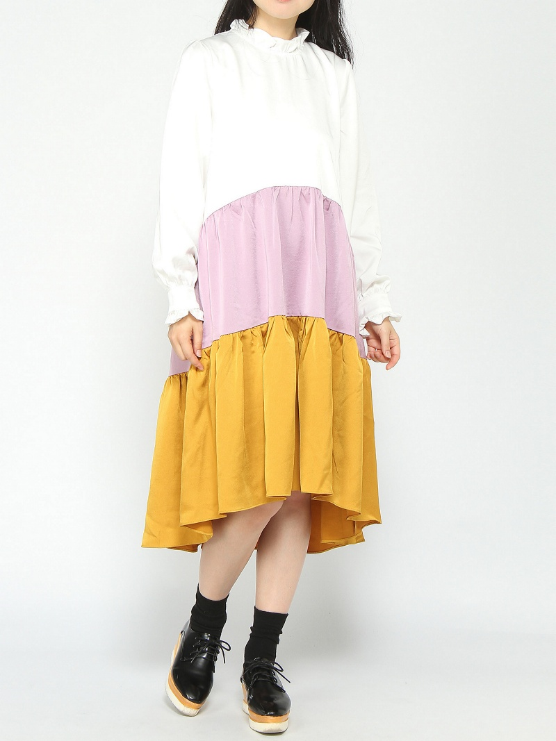 [Rakuten BRAND AVENUE]sister jane / Color Block Mid Dress ray beams レイビームス シスタージェーン ビームス ウイメン ワンピース【送料無料】