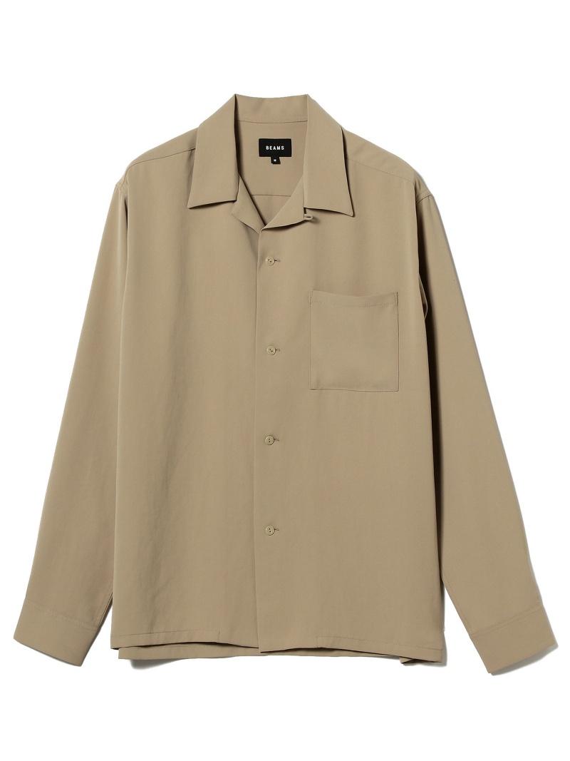 [Rakuten BRAND AVENUE]BEAMS / ウォッシャブル オープンカラー シャツ BEAMS MEN ビームス メン シャツ/ブラウス【送料無料】