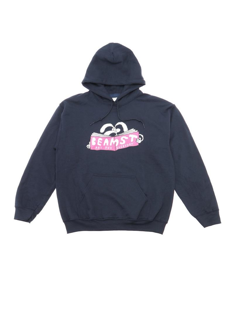 [Rakuten Fashion]BEAMS T / Stefan Marx AFE Hoodie BEAMS T ビームスT カットソー パーカー ネイビー グレー【送料無料】