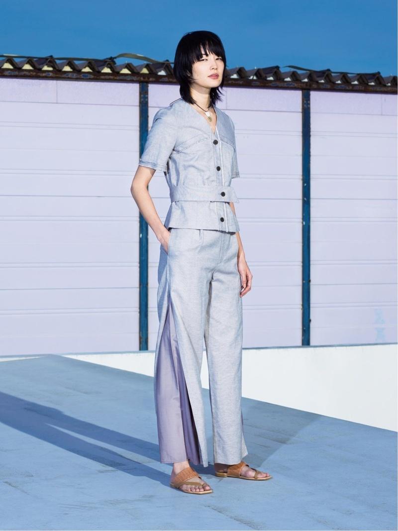 [Rakuten Fashion]RBS / サイド スリット ワイド パンツ Ray BEAMS ビームス ウイメン パンツ/ジーンズ ワイド/バギーパンツ ベージュ ホワイト【送料無料】