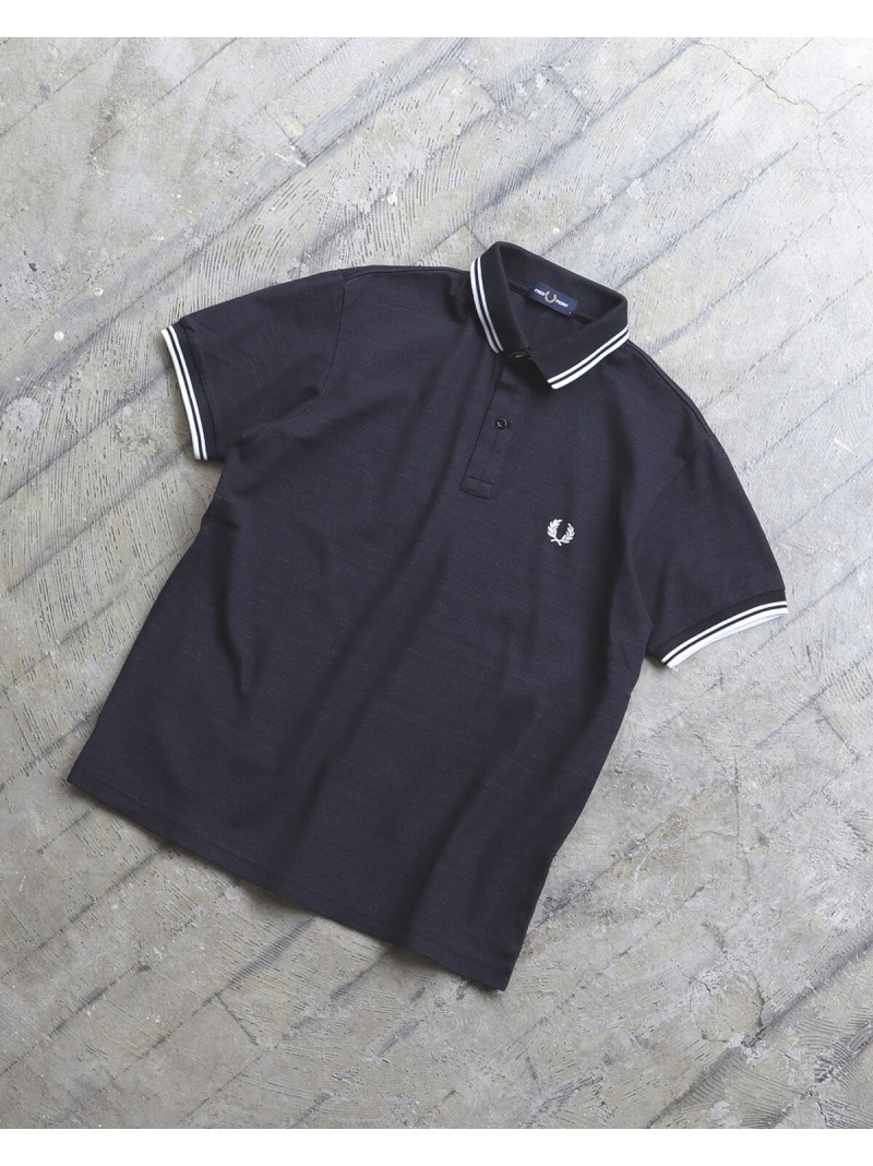 [Rakuten Fashion]FRED PERRY × BEAMS / 別注 ダブルカラー ポロシャツ 20SS BEAMS MEN ビームス メン カットソー ポロシャツ ブラック ネイビー ブルー【送料無料】