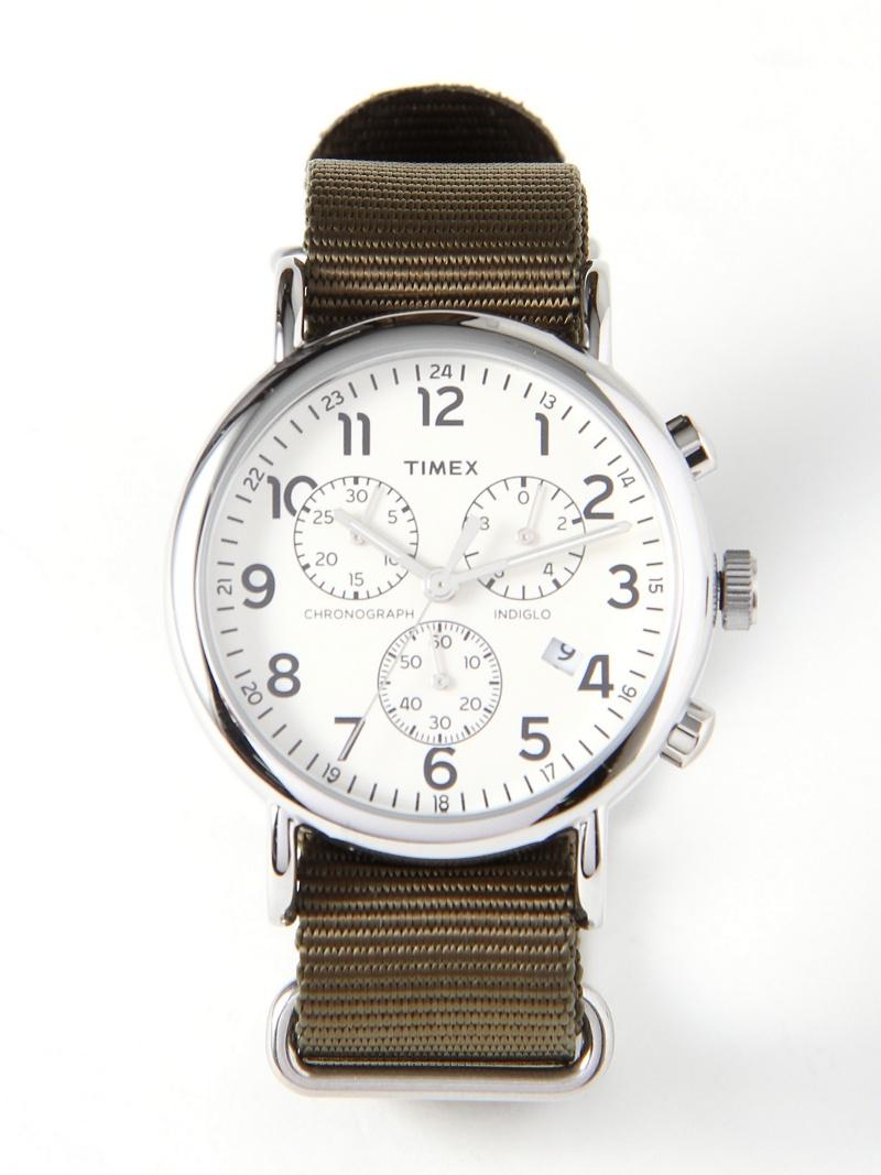 [Rakuten BRAND AVENUE]TIMEX / Weekender クロノグラフ タイメックス 腕時計 レディース ユニセックス BEAMS BOY ビームス ウイメン ファッショングッズ【送料無料】
