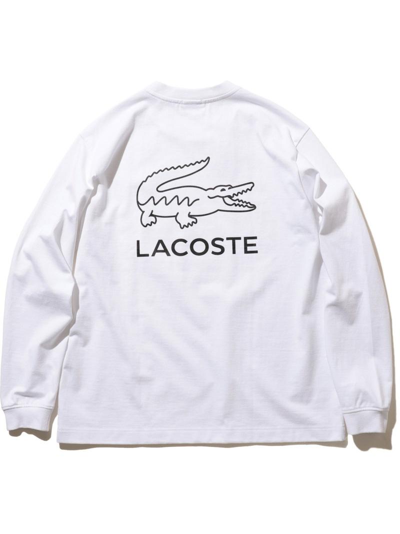 [Rakuten Fashion]LACOSTE × BEAMS / 別注 ビッグワニプリント ロングスリーブ Tシャツ BEAMS MEN ビームス メン カットソー カットソーその他 グレー ブラック グリーン【送料無料】
