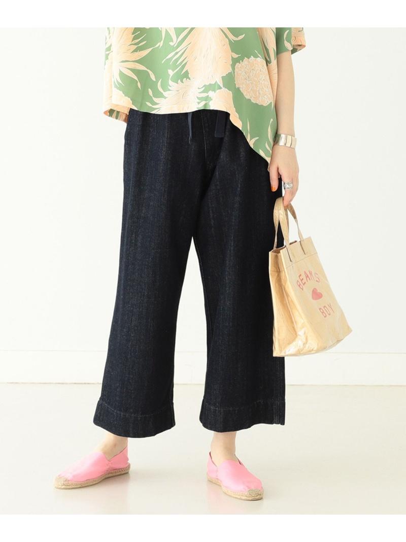 [Rakuten Fashion]BEAMS BOY / デニム ワイド イージーパンツ ビームスボーイ BEAMS BOY ビームス ウイメン パンツ/ジーンズ ワイド/バギーパンツ ブルー ネイビー【送料無料】