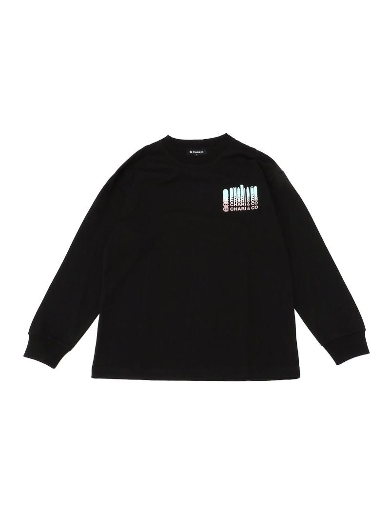 [Rakuten Fashion]CHARI&CO / DROPPING LOGO Long Sleeve Tee BEAMS T ビームスT カットソー Tシャツ ブラック ホワイト【送料無料】