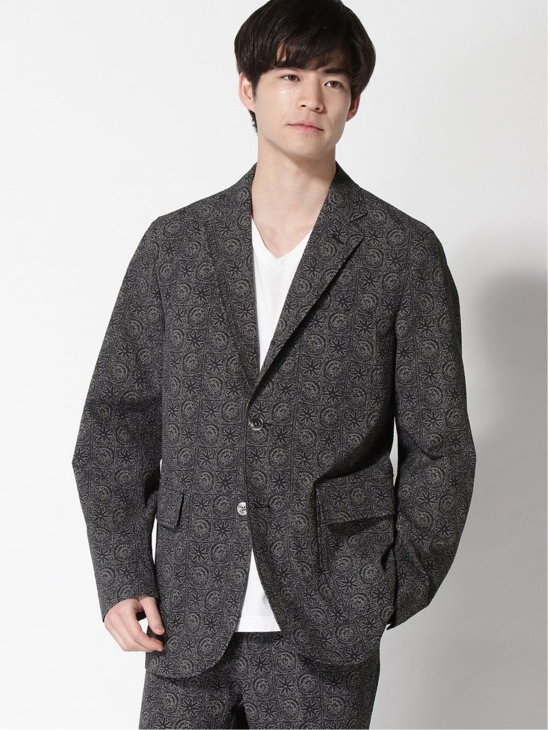 [Rakuten Fashion]BEAMS PLUS / 3ボタン プリントバティック ジャケット BEAMS MEN ビームス メン コート/ジャケット テーラードジャケット ブラック【送料無料】