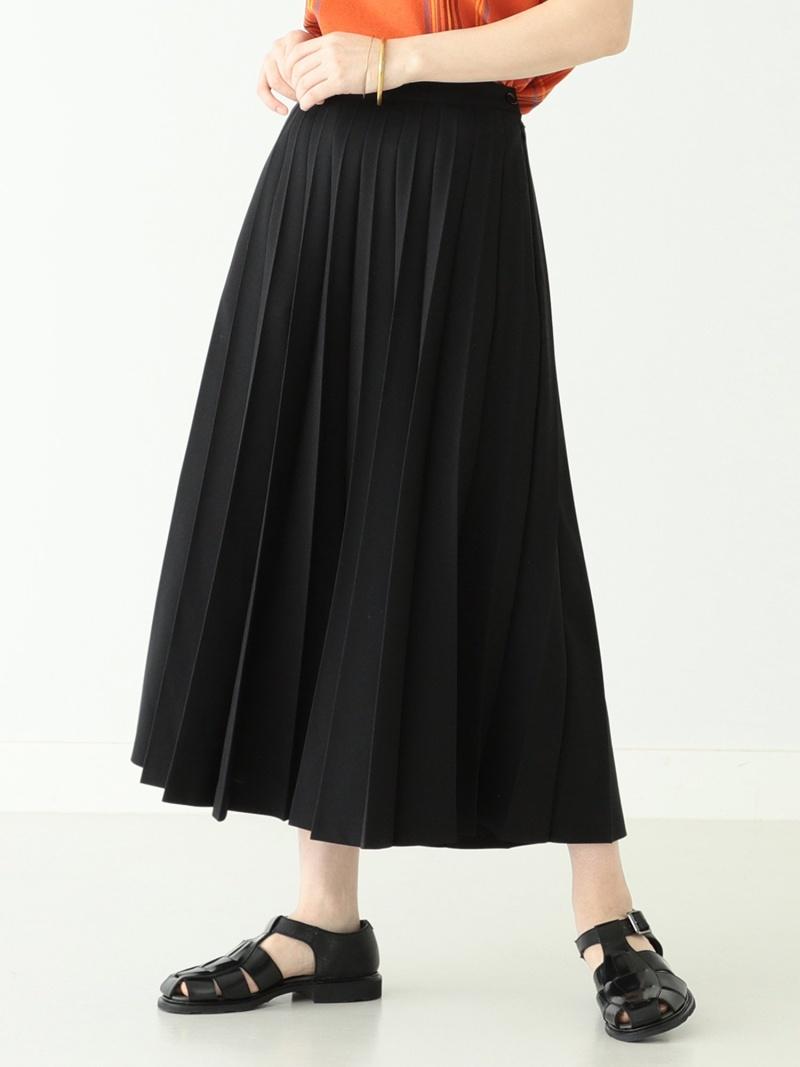 [Rakuten Fashion]BEAMS BOY / ポリエステル アコーディオン プリーツ スカート BEAMS BOY ビームス ウイメン スカート プリーツスカート/ギャザースカート ブラック ブラウン【送料無料】