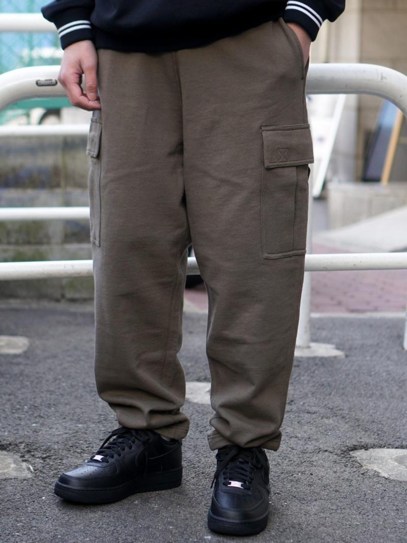[Rakuten Fashion]BEAMS / バギーテーパード 6ポケット スウェット パンツ BEAMS MEN ビームス メン パンツ/ジーンズ フルレングス カーキ グレー【送料無料】
