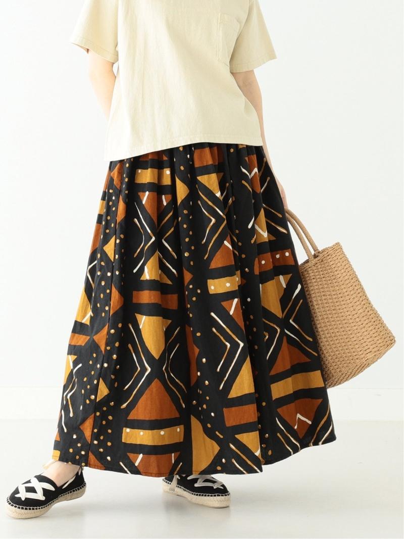 [Rakuten Fashion]orslow × BEAMS BOY / 別注 African Print Skirts BEAMS BOY ビームス ウイメン スカート ロングスカート ブラウン【送料無料】