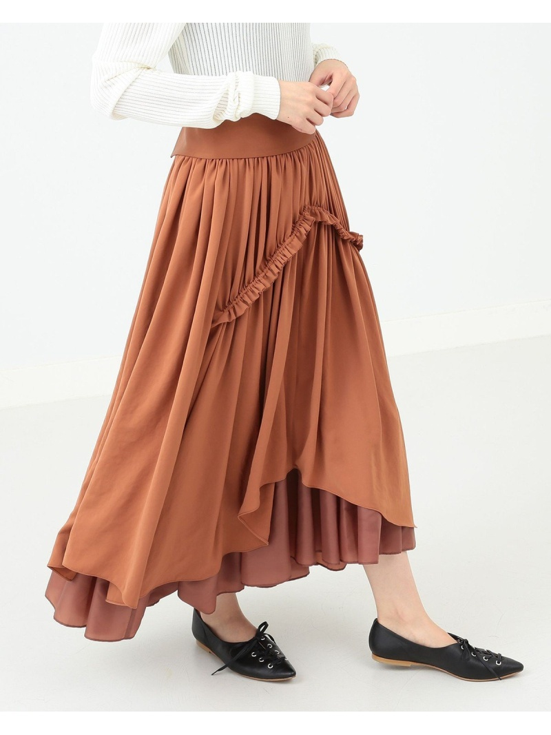 [Rakuten BRAND AVENUE]RBS / ラウンド ヘムギャザー スカート Ray BEAMS ビームス ウイメン スカート【送料無料】