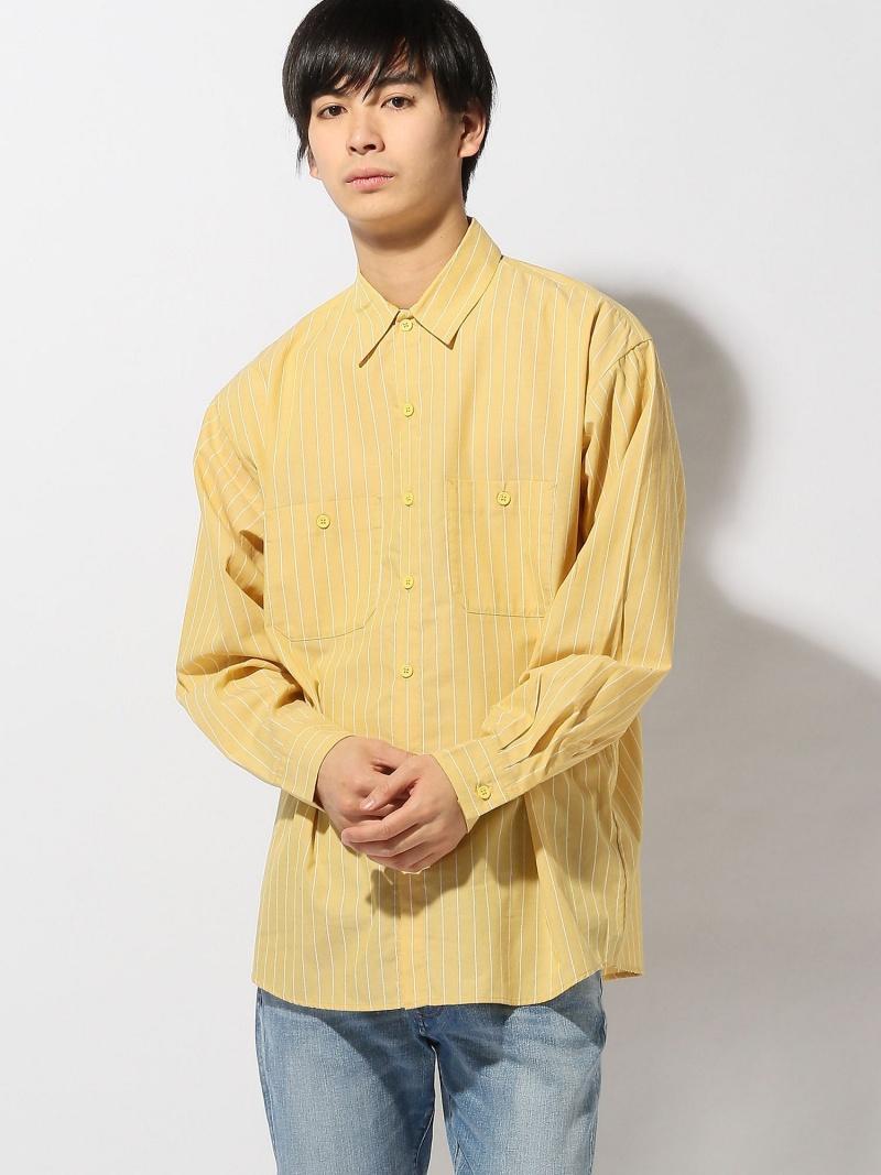[Rakuten BRAND AVENUE]BEAMS / ストライプ ワークシャツ BEAMS MEN ビームス メン シャツ/ブラウス【送料無料】