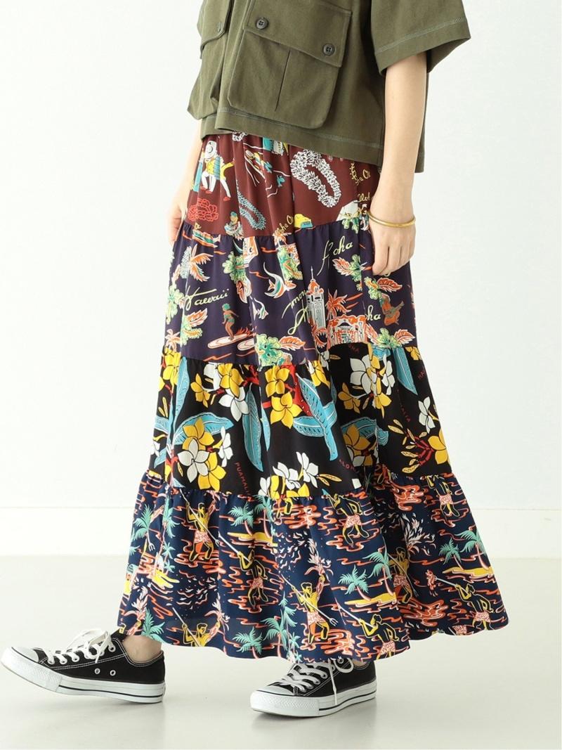 [Rakuten Fashion]SUN SURF × BEAMS BOY / 別注 ハワイアン クレイジー ティアード スカート BEAMS BOY ビームス ウイメン スカート ロングスカート【送料無料】