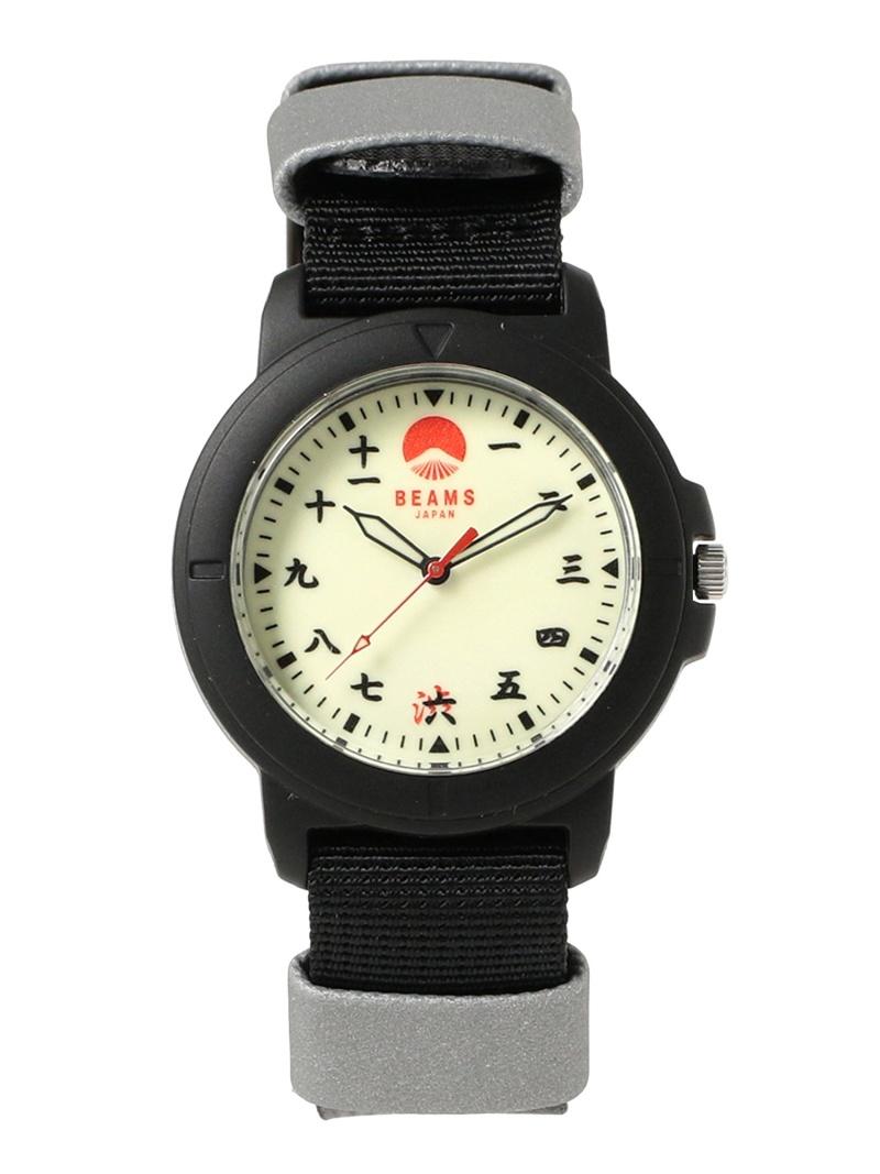 [Rakuten Fashion]BEAMS JAPAN / 別注 SHIBUYA リフレクタブル 3針 ウォッチ ビームス ジャパン BEAMS JAPAN ビームス ジャパン ファッショングッズ 腕時計 ブラック【送料無料】