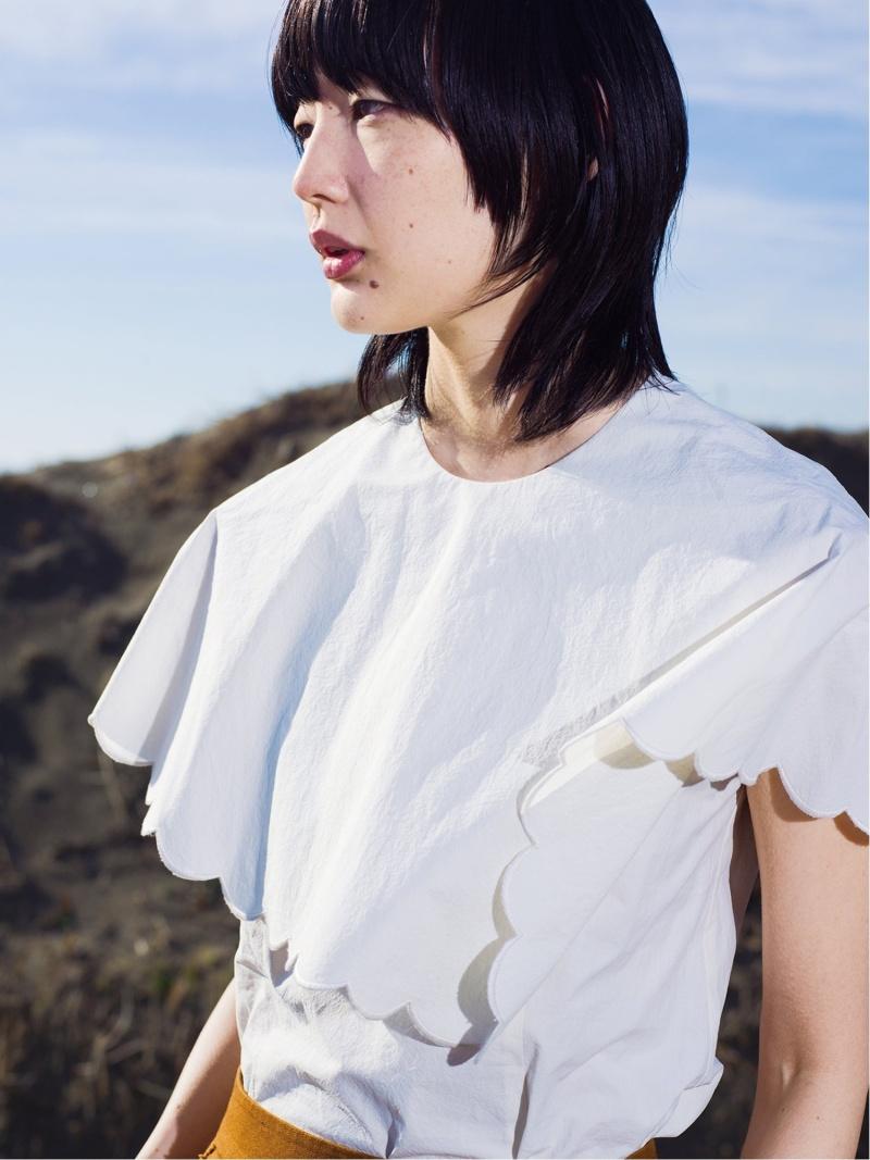 [Rakuten Fashion]RBS / スカラップ ケープ ブラウス Ray BEAMS ビームス ウイメン シャツ/ブラウス シャツ/ブラウスその他 ホワイト【送料無料】