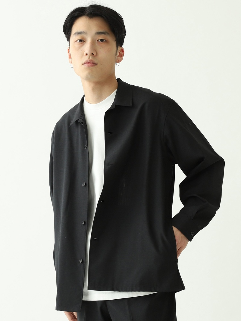 [Rakuten Fashion]【SALE/40%OFF】BEAMS / ウールシルク オープンカラーシャツ BEAMS MEN ビームス メン シャツ/ブラウス 長袖シャツ グレー【RBA_E】【送料無料】
