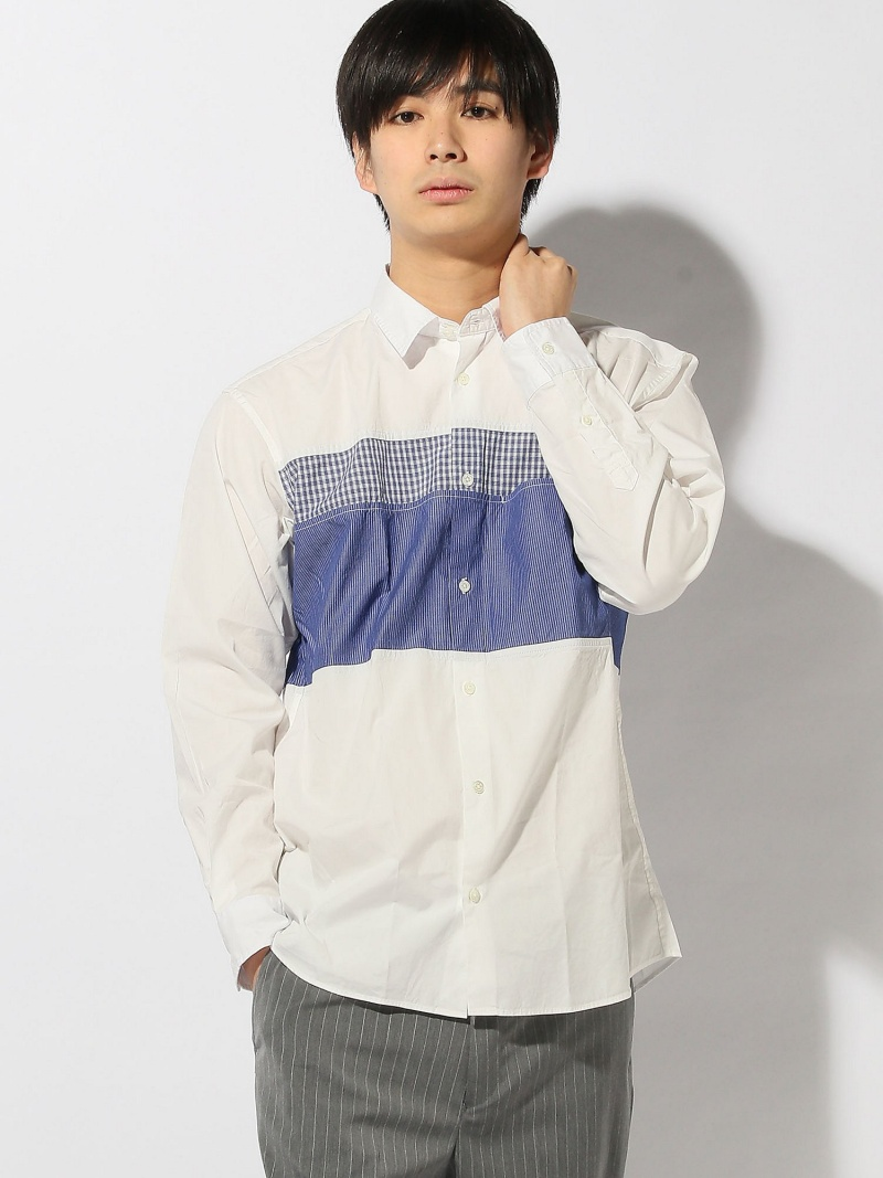 [Rakuten BRAND AVENUE]BEAMS / コットンスイッチカラーシャツ BEAMS MEN ビームス メン シャツ/ブラウス【送料無料】