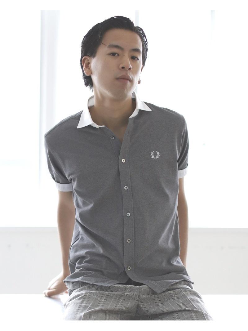 [Rakuten Fashion]FRED PERRY × BEAMS / 別注 カッタウェイ ポロシャツ 20SS BEAMS MEN ビームス メン カットソー ポロシャツ ブラック ブルー ホワイト【送料無料】