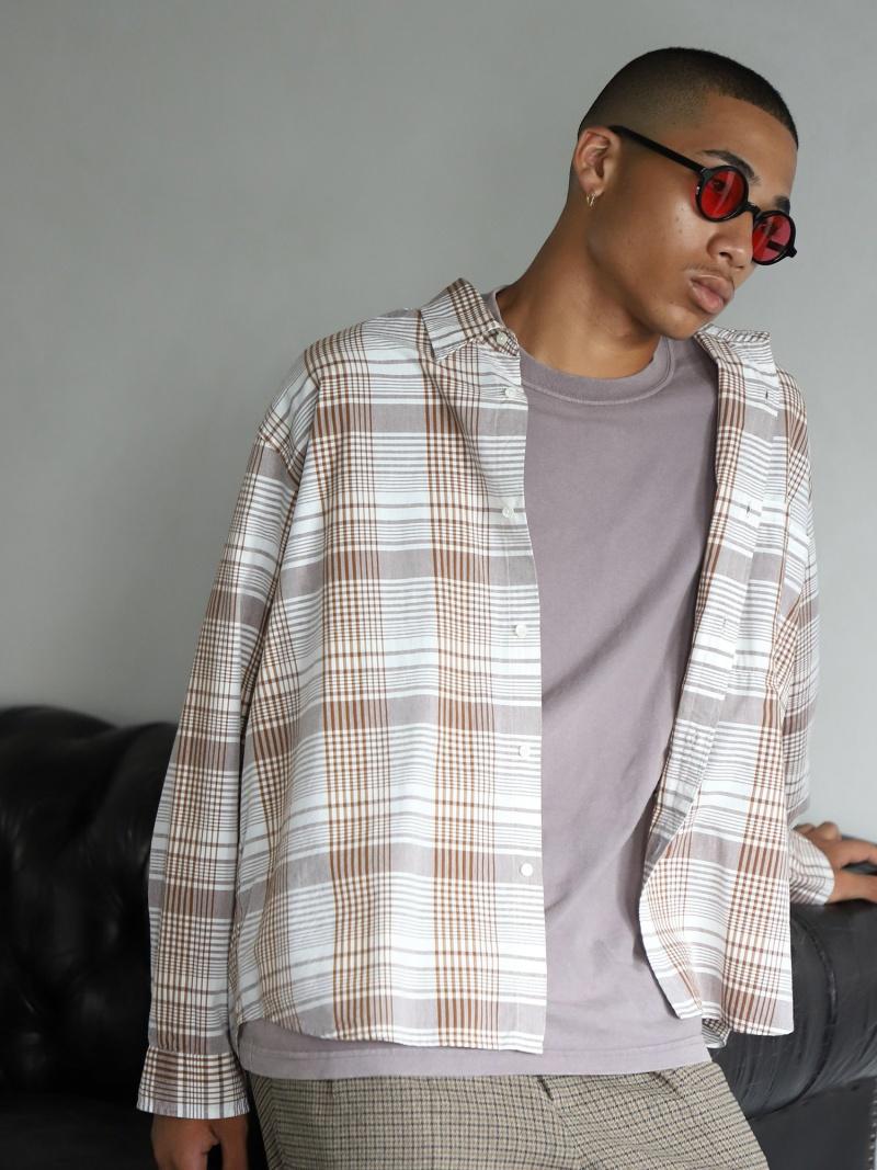 [Rakuten Fashion]BEAMS / NEW STANDARD ワイド ショート シャツ BEAMS MEN ビームス メン シャツ/ブラウス 長袖シャツ ベージュ ブラック【送料無料】