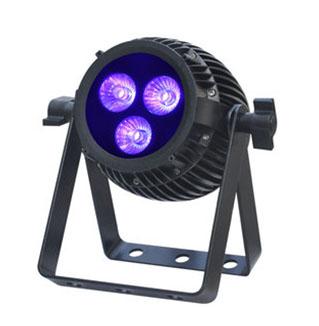 6 in 1 RGBAW UV LED Par dim4テクノロジー IP65 3 x 12W LED ダボ付き 落下防止ワイヤー付き ビームテック