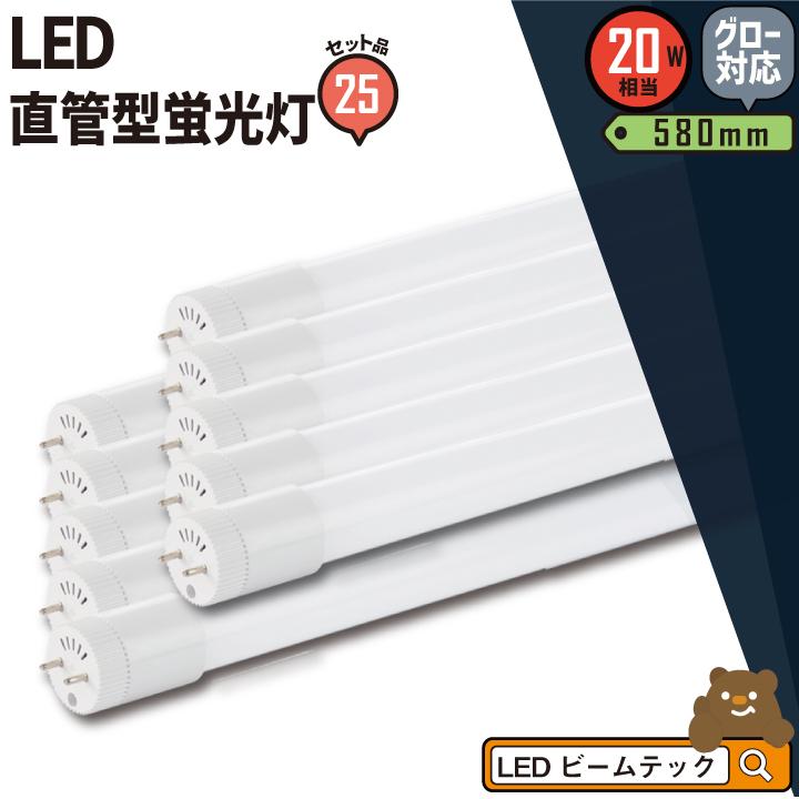 25本セット LED蛍光灯 20W 直管 電球色 昼白色 昼光色 LT20K-III--25 ビームテック