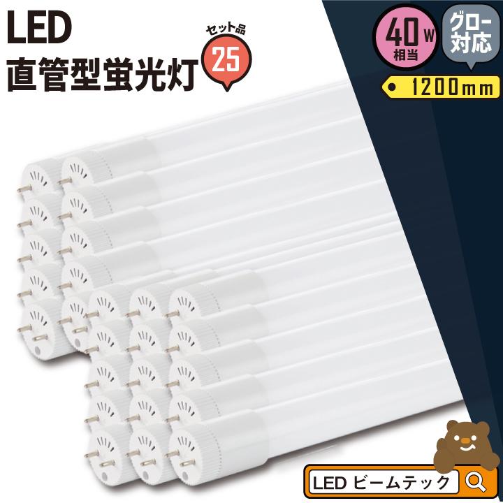 25本セット LED蛍光灯 40W 直管 電球色 昼白色 LT40K-III--25 ビームテック