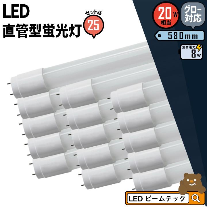 25本セット LED 蛍光灯 * 昼白色 LTG20YT--25