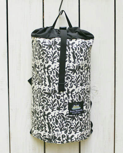 Buck Products x Ty Williams Bucket Bag Mini backpack / Canvas Sea Shadow バック プロダクツ バケットバック ミニ / デイパック バックパック リュック キャンバス プリント made in usa montana アメリカ製 buck classic