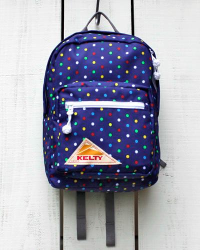 送料無料 kelty kids キッズ リュック 子供用 スーパーセール KELTY Vintage Child Daypack 2.0 backpack cordura クラシック ネイビー ケルティー ドット デイパック 子供 ケルティ 誕生日プレゼント Navy Dot チャイルド ヴィンテージ ポリエステル