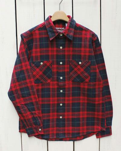 CAMCO mfg Heavy Weight Flannel Shirts Long Sleeve / 18-g カムコ ヘビーウエイト フランネル シャツ 長袖 ネルシャツ 定番 ネイビー レッド camco work ネルシャツ ヘビーネル チェック pointup