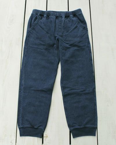 Good On Narrow Sweat Pants / French Terry Navy Pigment グッドオン グットオン ナロー スウェット パンツ / フレンチテリー  テーパード 裾リブ ネイビー 紺 製品染め 日本製 goodon