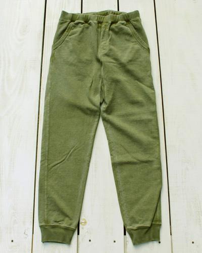 Good On Narrow Sweat Pants / French Terry Rib / Sage Pigment グッドオン グットオン ナロー スウェット パンツ / フレンチテリー  テーパード 裾リブ セージ グリーン 製品染め 日本製 goodon