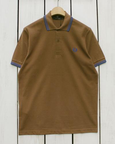送料無料 ラッピングOK フレッドペリー ポロ Fred Perry Twin Tipped Shirt polo 奉呈 pique 蔵 232 Tobaco 1964 royal フレッド fred England M12N 鹿の子 シャツ ブルー in m12n ブラウン made 2本ライン 半袖 ピケ 英国製 ペリー