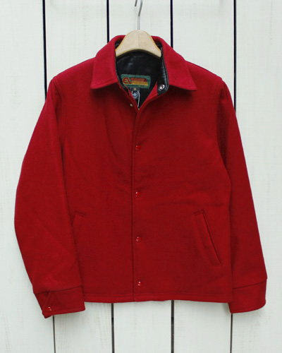 EXPORT LEATHER Melton Coach Jacket / Stadium Award Red / Wool / made in Canada エクスポート レザー メルトン コーチジャケット / スタジャン レッド / ウール / カナダ製 export leather