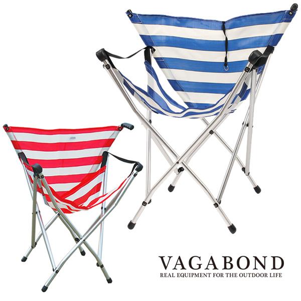 Vagabond// Stripe Folding Chair/ アルミ alminum 2-Pattern バガボンド ストライプ アルミ チェア/ 椅子 折りたたみ アウトドア camp 2パターン/ 軽量 携行 a&f, 和柄カジュアル工房 京都壬生堂:58d81b27 --- data.gd.no