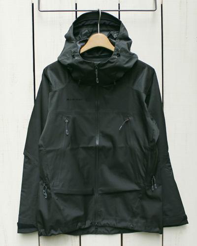 Mammut Pordoi HS Hooded Jacket Men Dry technology pro Black 0001 マムート ポルドイ フーデッド ジャケット ドライテクノロジー プロ 防水 透湿 防風 / シェル ブラック / ジャガード / mammut マムート