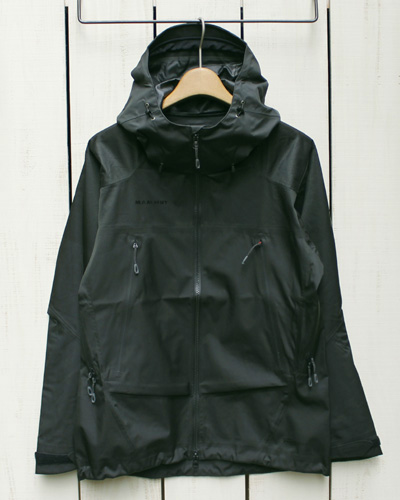 Mammut Pordoi HS Hooded Jacket Men Dry technology pro Black 0001 マムート ポルドイ フーデッド ジャケット ドライテクノロジー プロ 防水 透湿 防風 / シェル ブラック / ジャガード / mammut マムートpointup