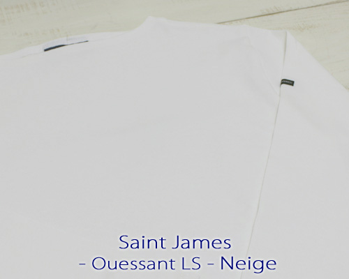 Saint James Ouessant Long sleeve boatneck solid Neige セント ジェームス ウエッソン / 長袖 無地 ボートネック 厚手 ホワイト 白 定番 made in France フランス製 saintjames french marine