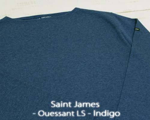 Saint James Ouessant Long sleeve boatneck solid Indigo / mix セント ジェームス ウエッソン / 長袖 無地 ボートネック 厚手 ダーク インディゴ 杢 made in France フランス製 saintjames french marine