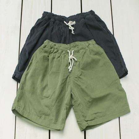 mollusk Corduroy Shorts / short pants 2-colors / M Green Navy モラスク モルスク コーデュロイ ショーツ / ショートパンツ クラシック 無地 洗い グリーン ネイビー mollusk beach surf
