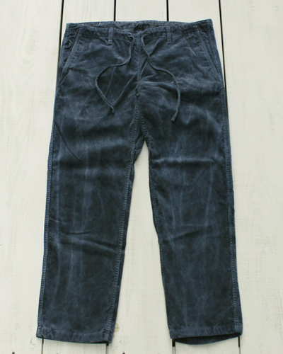 再入荷 Sunlight Believer 70s Corduroy Relax Pants / easy Navy Pigment サンライト ビリーバー コーデュロイ リラックス パンツ / イージーパンツ ネイビー 紺 製品染め コットン made in japan 日本製 sunlight