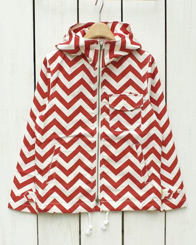 Sunlight Believer U.S.A. Canvas Deck Parka / jacket Zigzag / natural red / print  サンライト ビリーバー キャンバス デッキ パーカー ジャケット ジグザグ ナチュラル レッド プリント コットン 日本製 sunlight