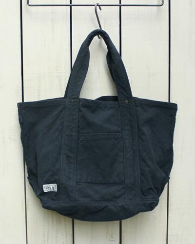 V.D.L.C Standard Tote Bag / unisex Dark Navy overdye ブイディーエルシー スタンダード トート バッグ ユニセックス 帆布 コットン / 濃紺 ダークネイビー 後染め made in japan 日本製 vdlc キャンバス トート