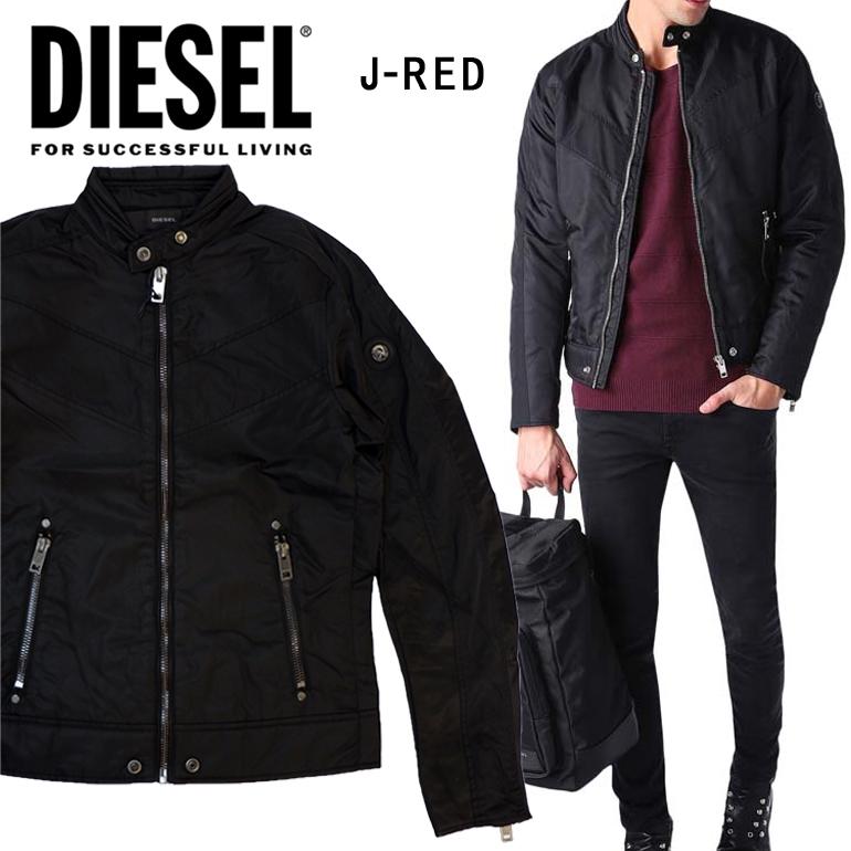 DIESEL ディーゼル メンズ ナイロンジャケットJ-RED GIACCA ブラック アウター ジャケット ブルゾン大きいサイズ ビッグサイズあり