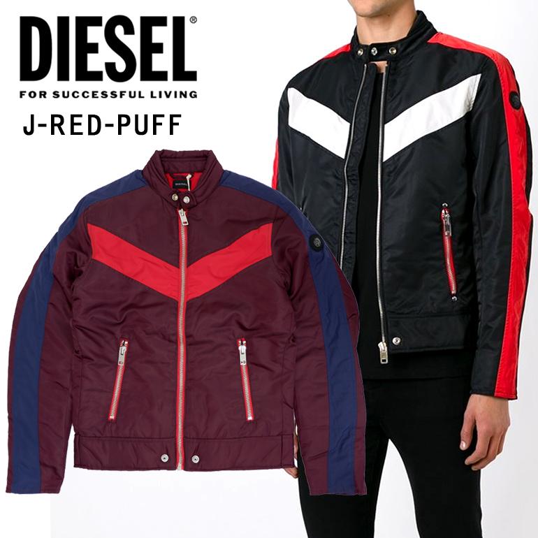 【Sサイズ1点のみ】DIESEL ディーゼル メンズ アウター ジャケット ブルゾンJ-RED-PUFF GIACCA レッド パープル