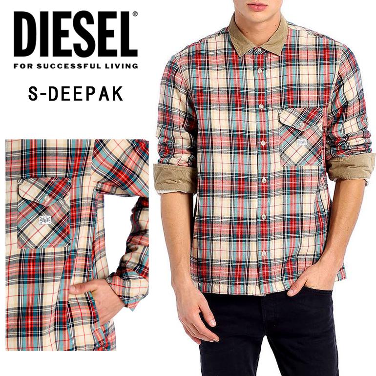 【在庫処分 XSサイズのみ】DIESEL ディーゼル 長袖シャツジャケット メンズ チェックシャツ ブルゾン正規品 即納小さいサイズ