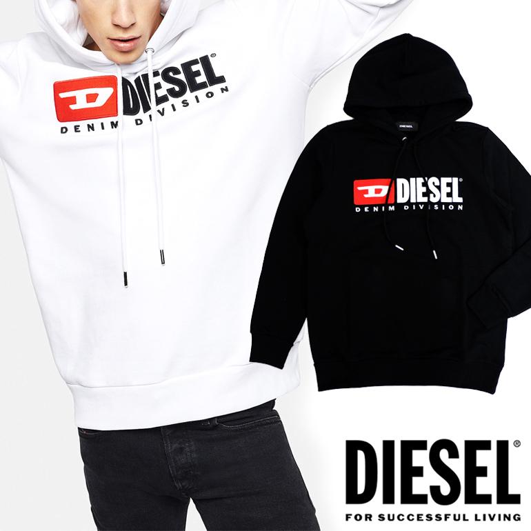 ディーゼル DIESEL メンズ パーカー プルオーバーS-GIR-HOOD-DIVISION ロゴ フード 裏毛 スウェットパーカー