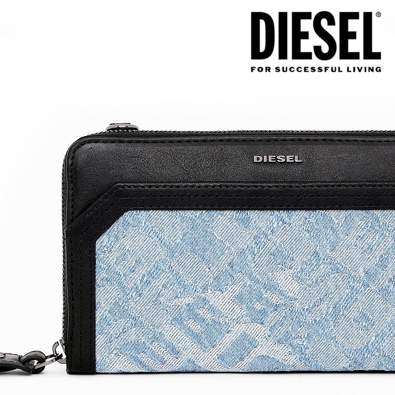 【訳あり品のため返品交換不可】DIESEL ディーゼルラウンドファスナー 財布 長財布MISS-MATCH GRANATO LCLS wallet DENISE X06255 P2538ロゴ デニム レディース